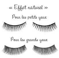 Faux-cils « effet  naturel »