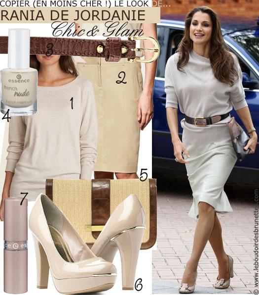 Copier (en moins cher !) le look Chic&Glam de Rania de Jordanie
