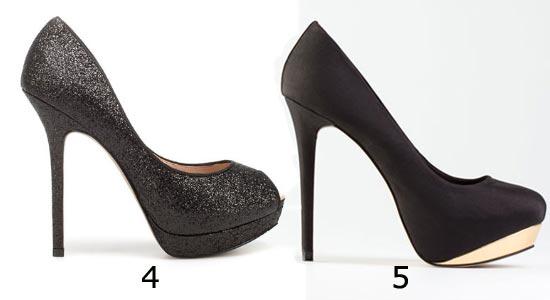 Chaussures de soirée : escarpins paillettes à talon haut