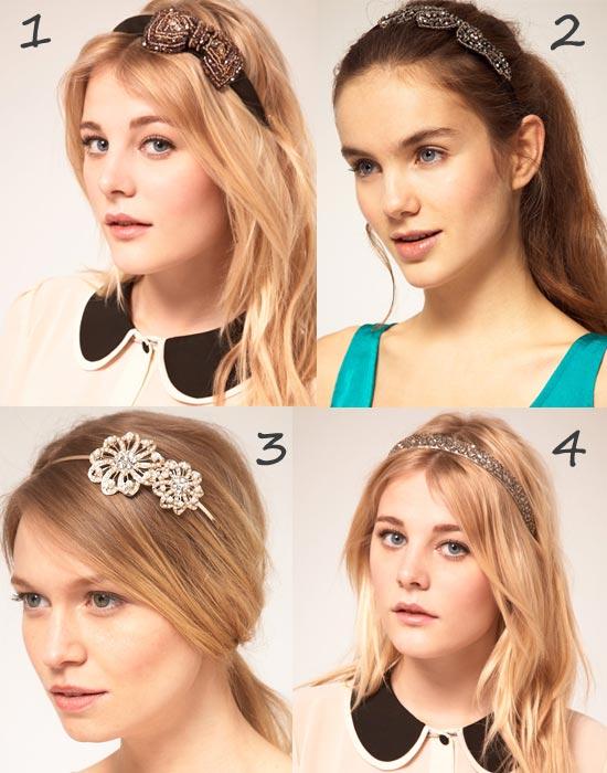 Serre-têtes de soirée : accessoires bijoux pour les cheveux