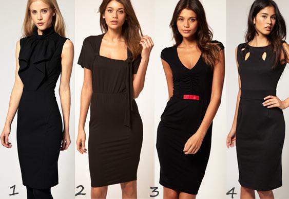 Robes classes et élégantes en soldes : robe noire, robe évasée, robe sous le genou