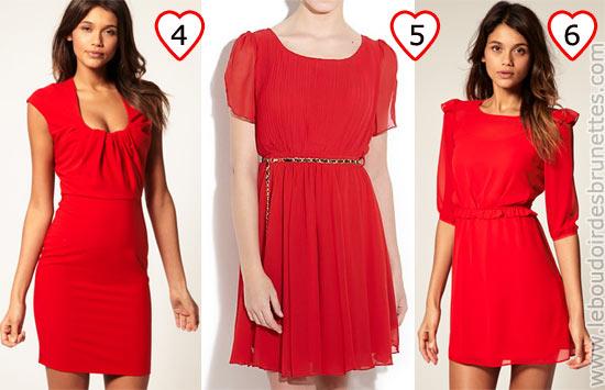 Robes rouges pour la Saint Valentin