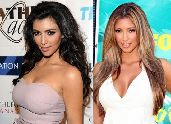 Kim Kardashian blonde ou brune