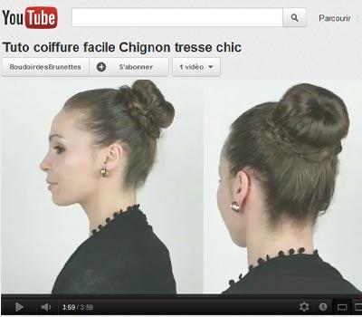 Tuto coiffure facile : Chignon tresse chic à porter en journée ou en soirée
