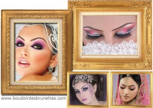 100 idées de maquillage oriental de mariage : maquillage libanais, indien, etc.