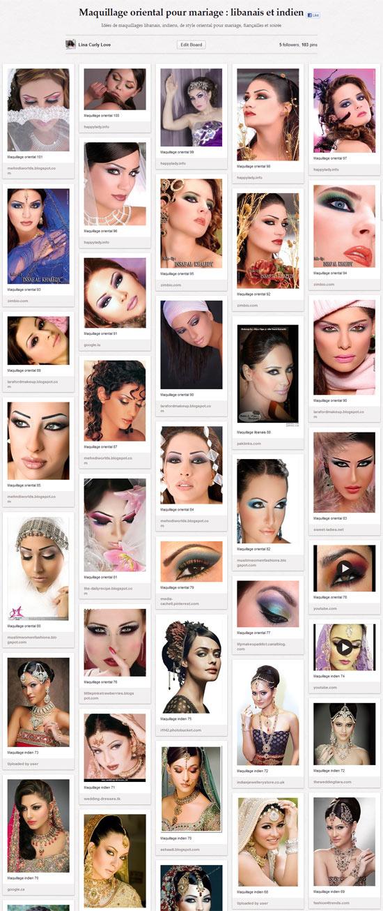 Idées de maquillage oriental de nariage : maquillage indien et oriental