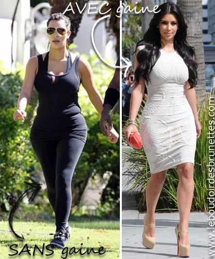 Kim Kardashian avec et sans gaine