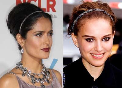 Serre-têtes Princesse de Salma Hayek et Nathalie Portman