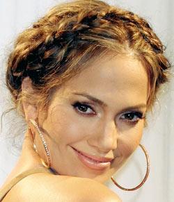 Tresse en couronne de Jennifer Lopez