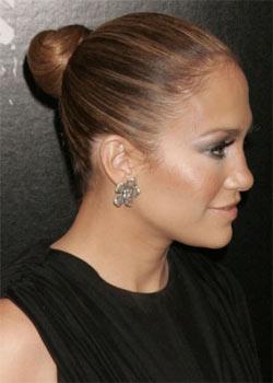 Chignon de danseuse de Jennifer Lopez