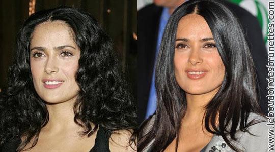 Salma Hayek : cheveux frisés ou lisses ?