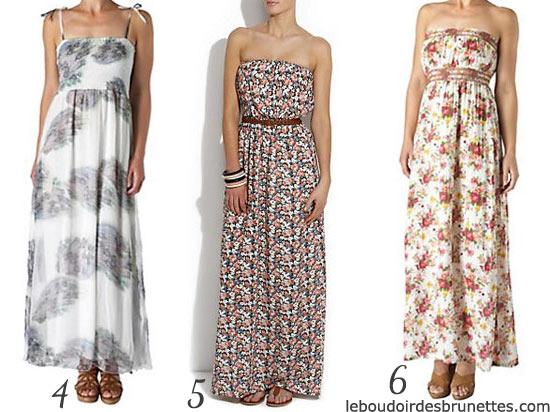 Maxi robes : robes longue à fleurs