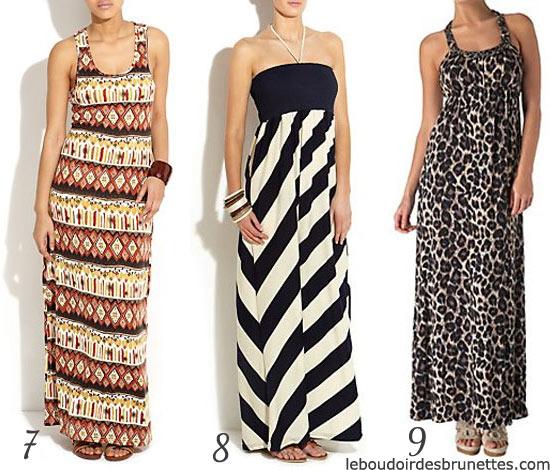 Maxi robes : robes longue tribal, graphique et léopard