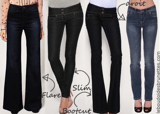 Jeans Slim, bootcut, flare, droit