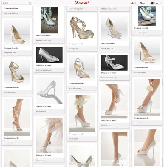 Les chaussures  de mariée 2012